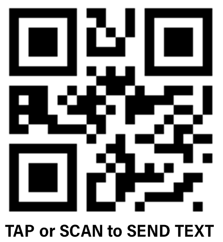 Report an outage by text message or scan QR code